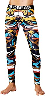 Men's Winter Stretchable Thermal Undergarment Pants Printed Sweatpants