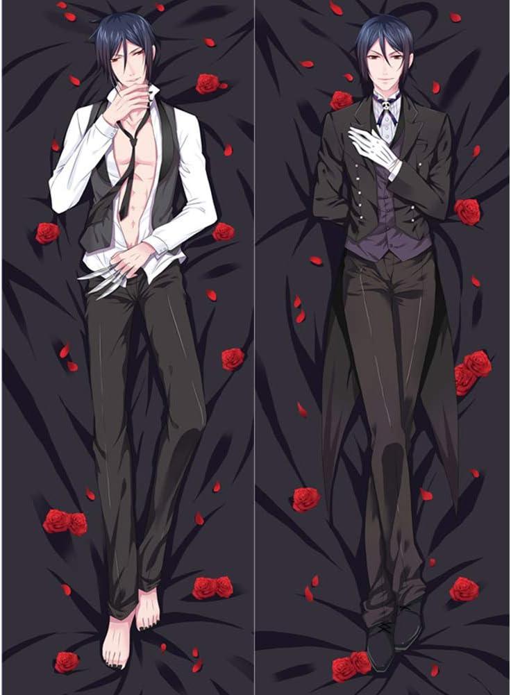 LXHQ Black Challenge the lowest price Butler Sebastian·Michaelis Anime H store Body Pillowcase