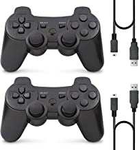 $20 » PS3 Controller Wireless, Gaming Remote Joystick for Playstation 3 with Charger Cable Cord (Black, Black)