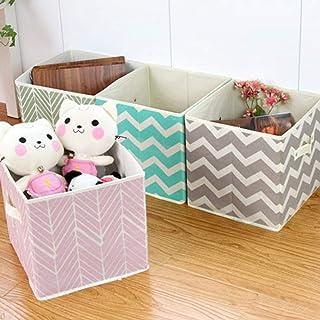 Turbobm Boîtes de Rangement Pliables en Tissu Non tissé Pliable, poubelles de paniers de Cube en Organisateur Pliable, pou...