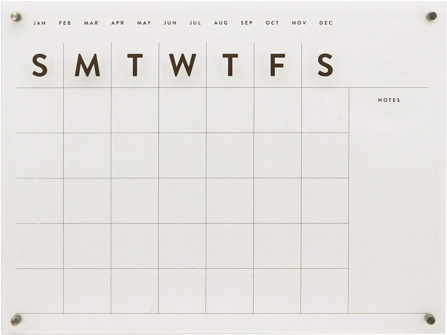 Parisloft Reusable Under blast sales Acrylic Wall Max 77% OFF Calendar Clear Monthly