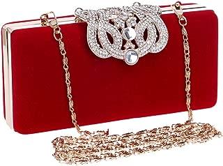 Siswong Pochette pour Femme Mode pochette sac diamant t/él/éphone portable sac grand portefeuille dames long sac de soir/ée