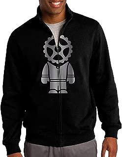 Men Gearhead Stig Platinum Style Zip-up Jacket Hooded Sweatshirt Black
