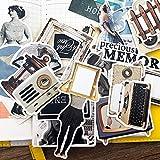 BLOUR 34pcs / Bag Scrapbooking Pegatinas Retro Serie de revistas Frescas Personajes Personalizados álbum inglés Diario Pegatinas Decorativas