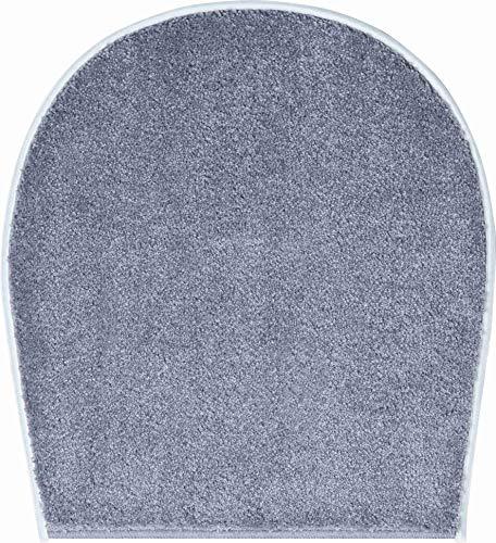 Gr& Badteppich 100prozent Polyacryl, ultra soft, rutschfest, RIALTO, WC-Deckelbezug 47x50 cm, anthrazit