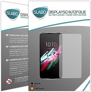Slabo 2 x displayfolie för Alcatel Idol 4 skärmskyddsfolie tillbehör No Reflexion MATT – Made IN Germany