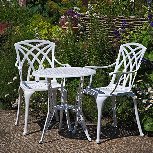 Charles Bentley Fonte d/'Aluminium Table de bistro Table et chaises Set