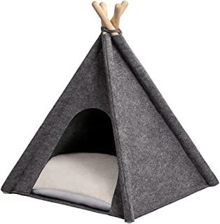 MYANIMALY TIPI-tält för husdjur, 60 x 60 cm, Grau/Ecru
