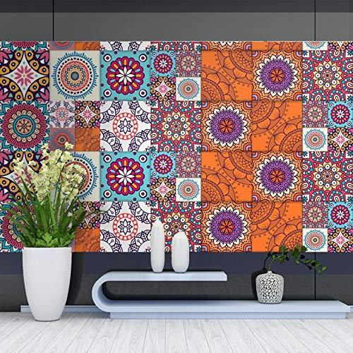 UkYukiko - Adhesivo de pared (500 x 20 cm), diseño de baldosas de cerámica, PVC