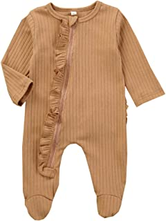 Infant Chenille Onesies Unisex One-Piece Pajama Jumpsuits for Baby Boys and Girls Pjs Footed Pajamas