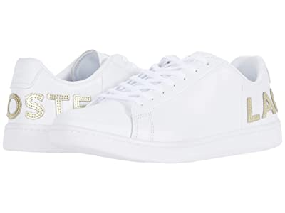 Lacoste Carnaby Evo 120 6 US (White/White) Women
