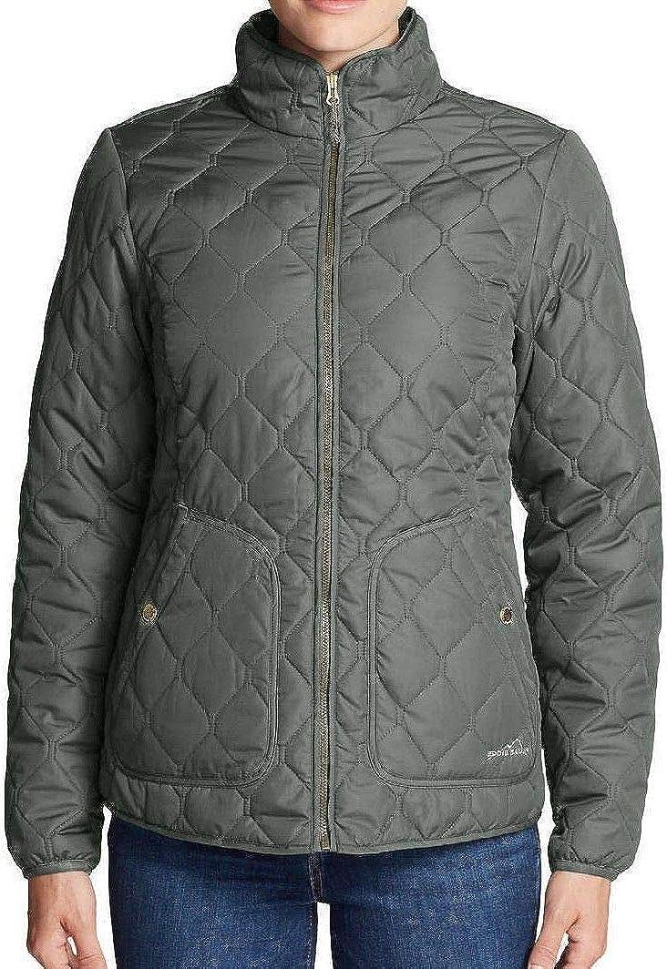 Eddie Bauer Women's Year Round Large Quilted Cape SALENEW very popular! Jacket Field Max 69% OFF