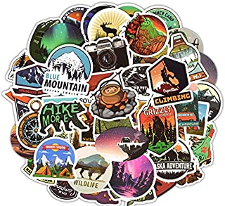 Waterproof Vinyl Stickers for Car Bike Laptop Skateboard Luggage Decal Graffiti Patches Stickers (50 Pcs Outdoor Adventure...