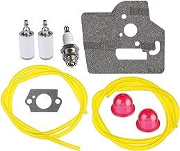 HIPA 530069599 Fuel Line with Filter Gasket Spark Plug for Husqvarna 128c 128cd 128l 128ld 128ldx 128r Trimmer Edger