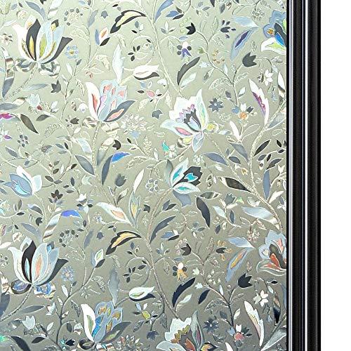 Shackcom Pellicola per Finestre Vetri Non Trasparente la Tutela della Vita Privata Controllo di Calore Anti-UV per Casa Bagno Cucina Ufficio 45x200 CM F02SP