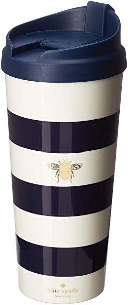 Stripe with Bee Thermal Mug