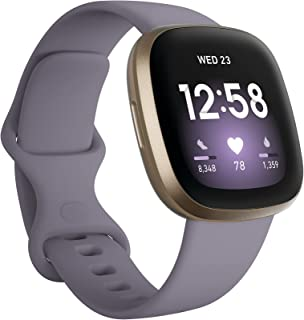 Fitbit Versa 3 Health and Fitness Smartwatch, Amazon Exclusive Color, GPS, 24/7 Heart Rate, Alexa Built-in, 6+ Days Batter...