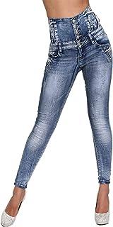Candygirls P1971 - Pantalones Vaqueros de Cintura Alta para Mujer (7/8, Cintura Ancha), diseño de Estrellas