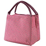 Lunch Bag, Uniwit Reusable Lunch Cooler Tote Bag Box Lunch Container for Men & Women Work Picnic or Travel Insulated (Red)