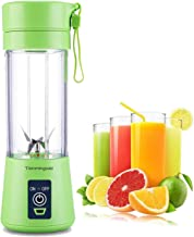 Portable blender Personal 6 Blades Juicer Cup Household Fruit Mixer, With Magnetic Secure Switch, USB Charger Cable 380ML(...
