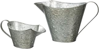 Rustic Metal Watering Can Planters, Set of 2