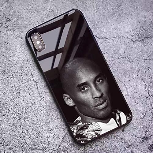 XMYP Lakers 24 # Kobe - Funda para iPhone 11/11 Pro/11 Pro Max (cristal templado antihuellas dactilares), carcasa de teléfono para aficionados al baloncesto, absorción de golpes, arañazos, Resi R-11