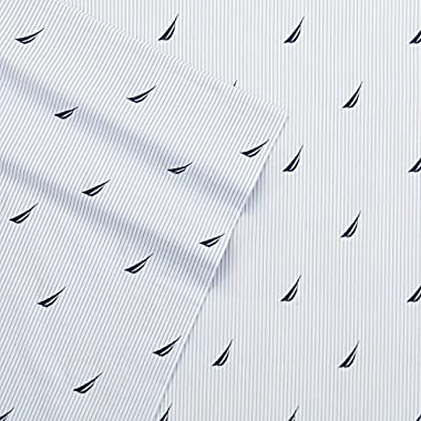 Nautica Boat Stripe Sheet Set, Queen, Blue