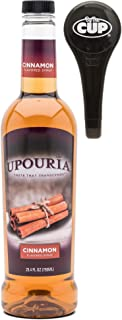 Upouria Cinnamon Coffee Syrup Flavoring, 100% Gluten Free, Vegan, and Non Dairy 750 mL bottle - Coffee Syrup Pump included