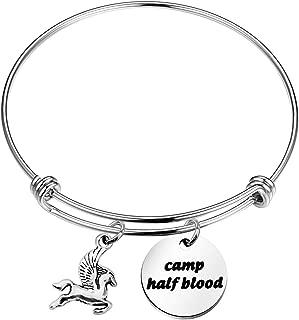 Camp Half Blood Bracelet Flying Horse Charm Bracelet Percy Jackson Jewelry Gift for Family Mythology Movie Gift