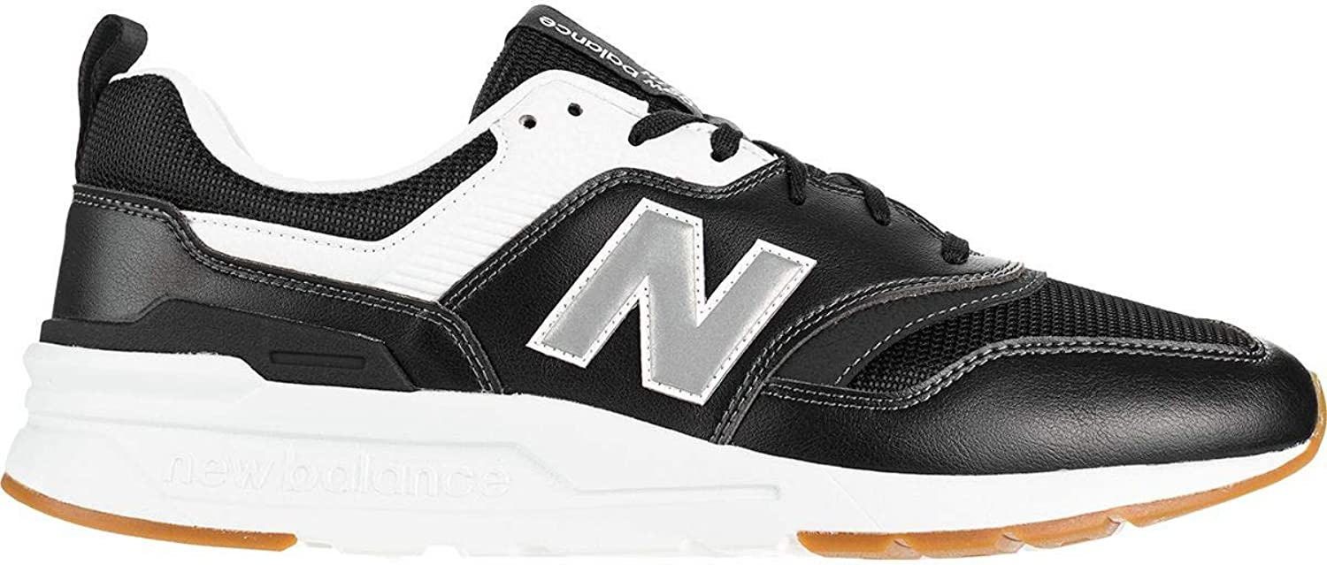 New Balance Men's 997 Leather Trainers, Black