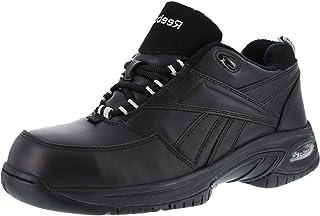 Reebok Womens Black Leather Athletic Oxford TYAK Composite Toe 6 M