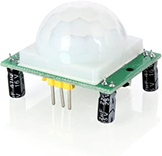 Aukru HC-SR501 Human Body Pyroelectricity Infrared PIR Motion Detector Sensor Module for Arduino, Raspberry Pi and Microcontrollers Electronic Projects