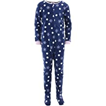 Komar Kids Girls  39  Big Plush Velour Fleece Footed Blanket Sleeper Pajama 3d6671702