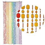 [page_title]-HAB & GUT -DV0222- Türvorhang OVAL, Mehrfarbig, 90 x 200 cm Perlenvorhang Pailettenvorhang