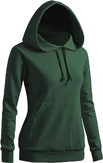 CLOVERY Women`s Solid Hoodie Pocket Long Sleeve Hoodie