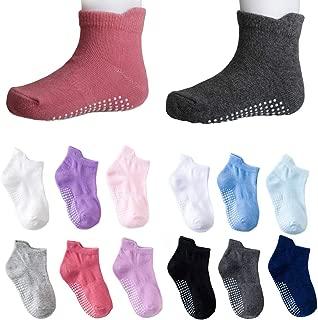 Toddler Infant Boys Girls Grip Ankle Socks Non Slip Anti Skid Socks 6 Pairs Socks Gift Set