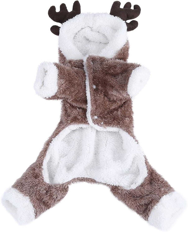 Filfeel Pet Coat, Cute Christmas Costume Dog Puppy Autumn Winter Clothes Warm (S)