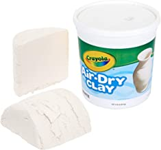 Crayola Air Dry Clay, White, 5lb Bucket, No Bake Clay for Kids, Gift