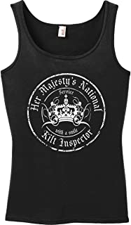 Tank Top: Her Majesty's National Kilt Inspector. Grunge Women's Womens Tank