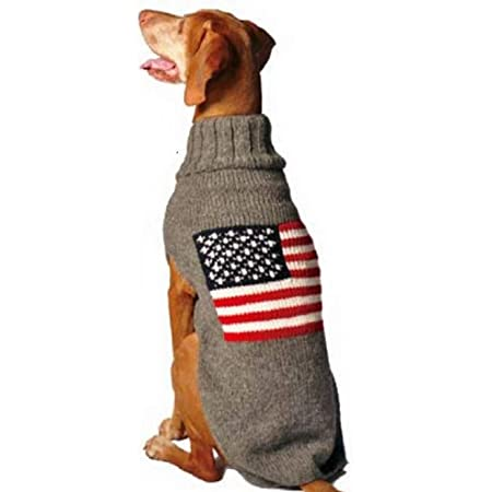 Chilly Dog American Flag Dog Sweater, XX-Large