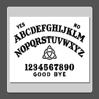 10 X 12 inch Stencil Template Ouija/Spirit/Ghost Board w/Triquetra Witch/Pagan/Wiccan/Spirit