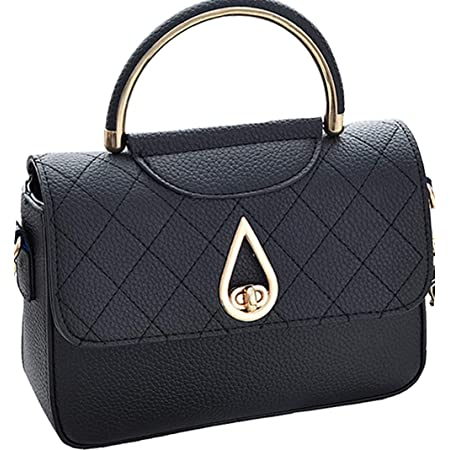 Covelin Women's Small Leather Handbag Tote Shoulder Crossbody Bag