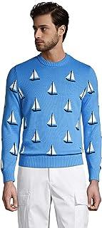 Men's Cotton Sail Boat Crewneck