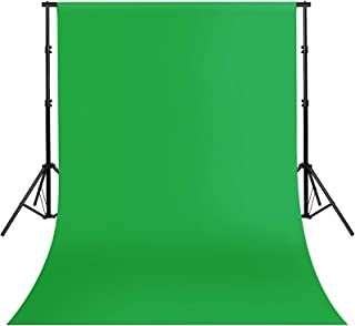 Green Screen Backdrop 10FTx10FT Muslin Fabric Photo Backdrop Solid Color Photography Background for Photoshoot Zoom Studio Movie Televison