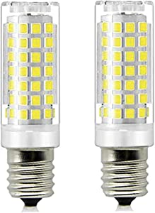 E17 LED Microwave Oven Appliance Whirlpoo Bulb,70W Halogen Bulb Equivalent,Daylight White 6000K Dimmable Ceramic Microwave Oven Light Bulb (2-Pack)