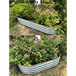 "Raised Garden Bed Metal Elevated Planter for Vegetable Flower Herb(7 ft.) 9 Product Size: 83""L x 35.5""W x 12""H Product Volume: 17.83 Cu. Ft. Suitable for planting vegetables、flowers and plants in your courtyard."