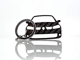 BlackStuff Carbon Karbonfaser Schlüsselanhänger Kompatibel mit Megane II Sport RS 2002 2009 BS 667