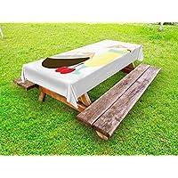 ABAKUHAUS Alcohol Funda Nórdica, Cóctel de piña Colada, de Tela con Estampa Digital Decorativo Lavable, 145 cm x 210 cm, Multicolor