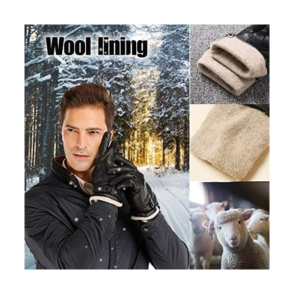 Acdyion Touchscreen Men's Genuine Leather Gloves 3
