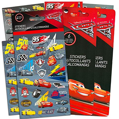 Disney CARS 3 Movie Cars Stickers Party Favors - Bundle of 16 Sheets 420+ Stickers Cars Party Supplies
